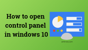 Where is the control panel in windows 10
