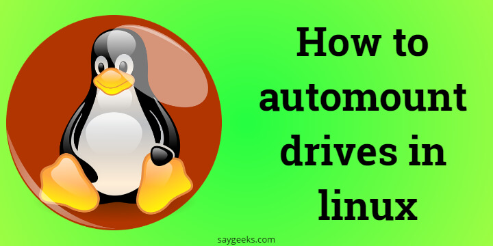 How to automount drives in linux